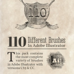 Engraving Vintage Brushes Vector Pack: 110 Brushes