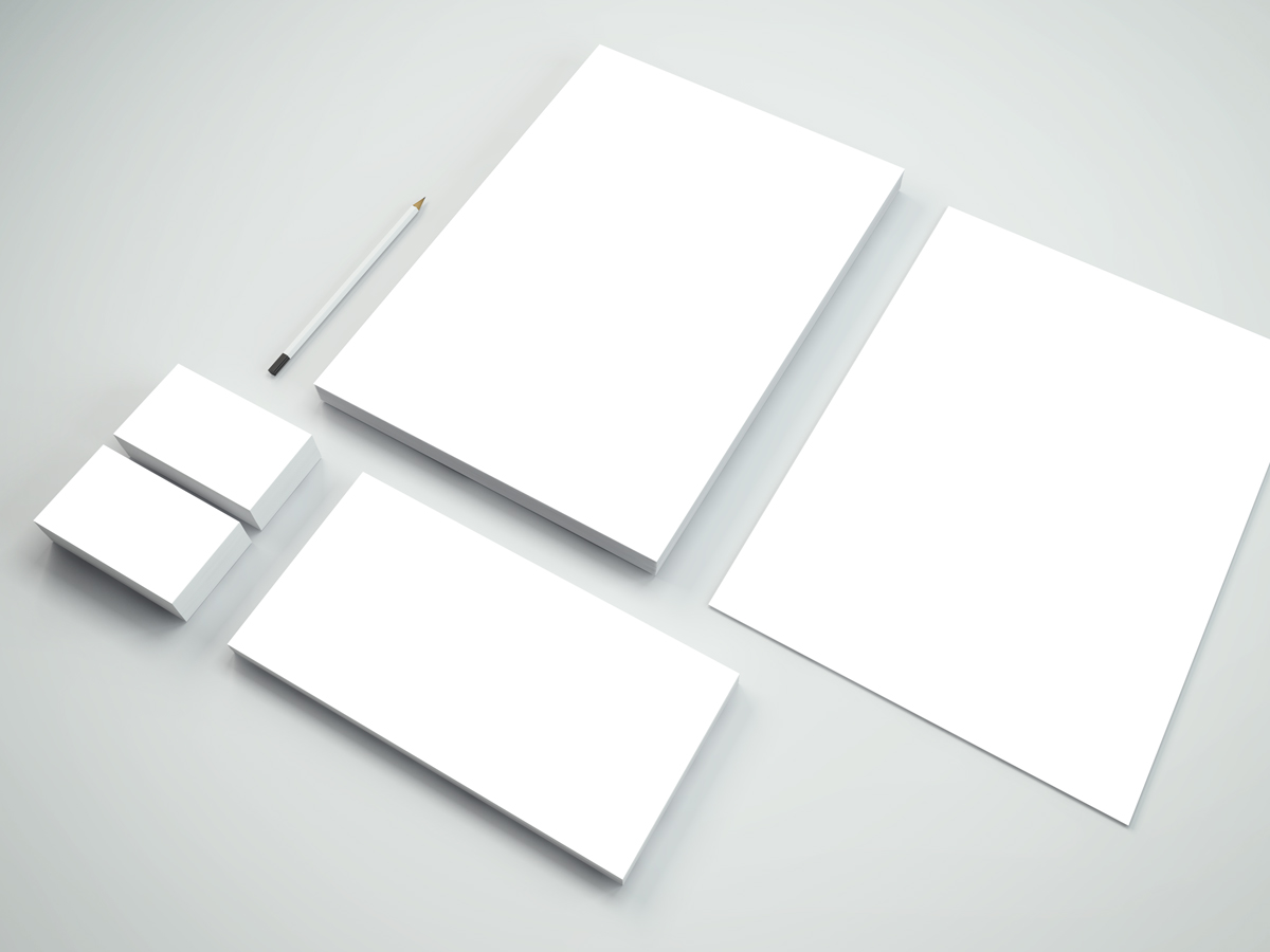 blank business card template psd