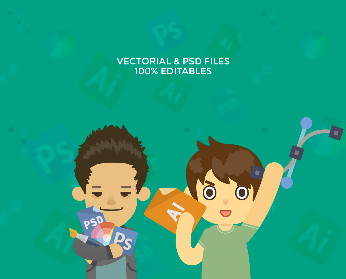 5-cute-cartoon-characters-vectorial-psd
