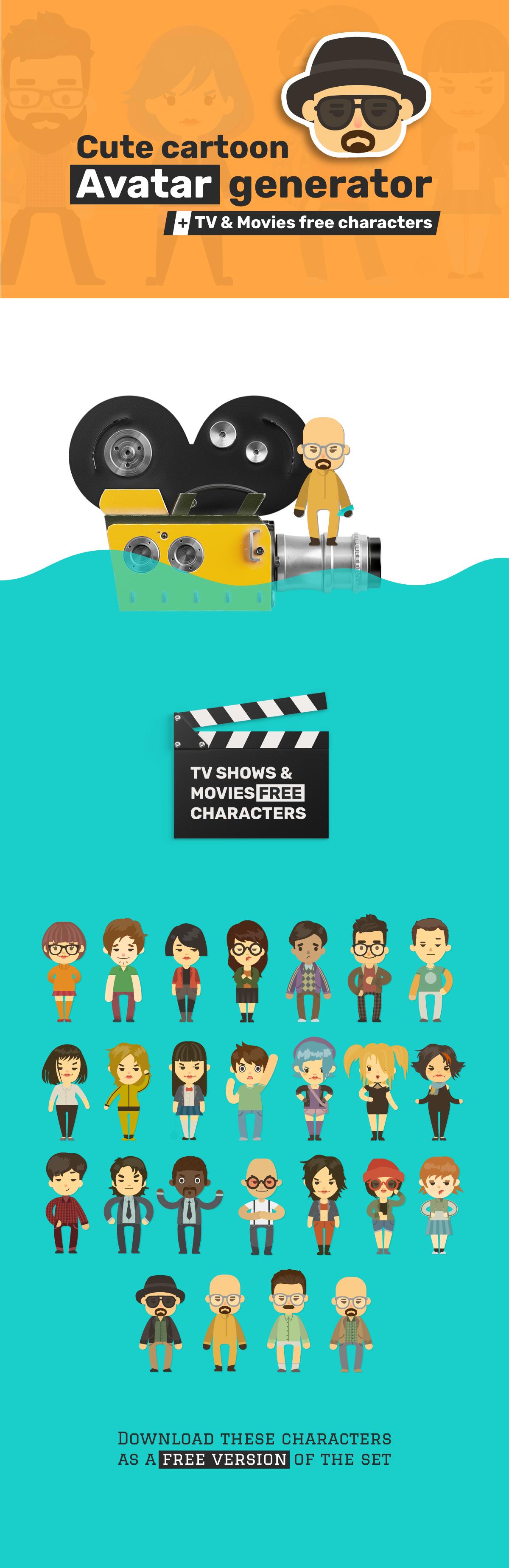 cute cartoon avatars and characters generator 2