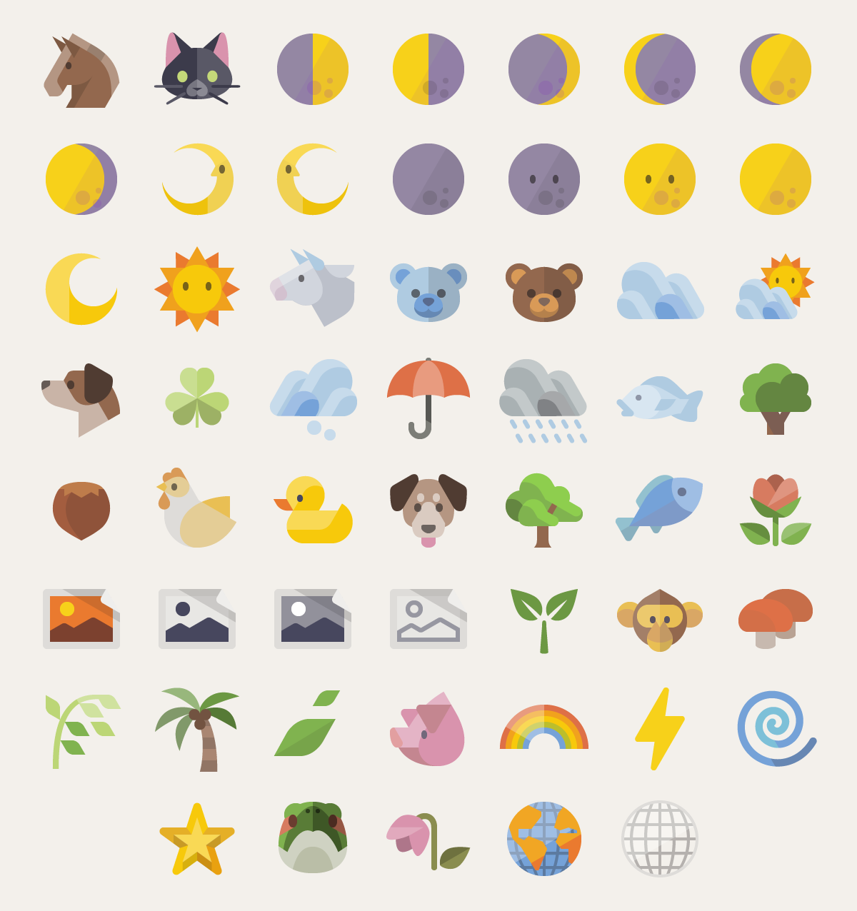 Flat Emoji List Vector Pack - Design Shock
