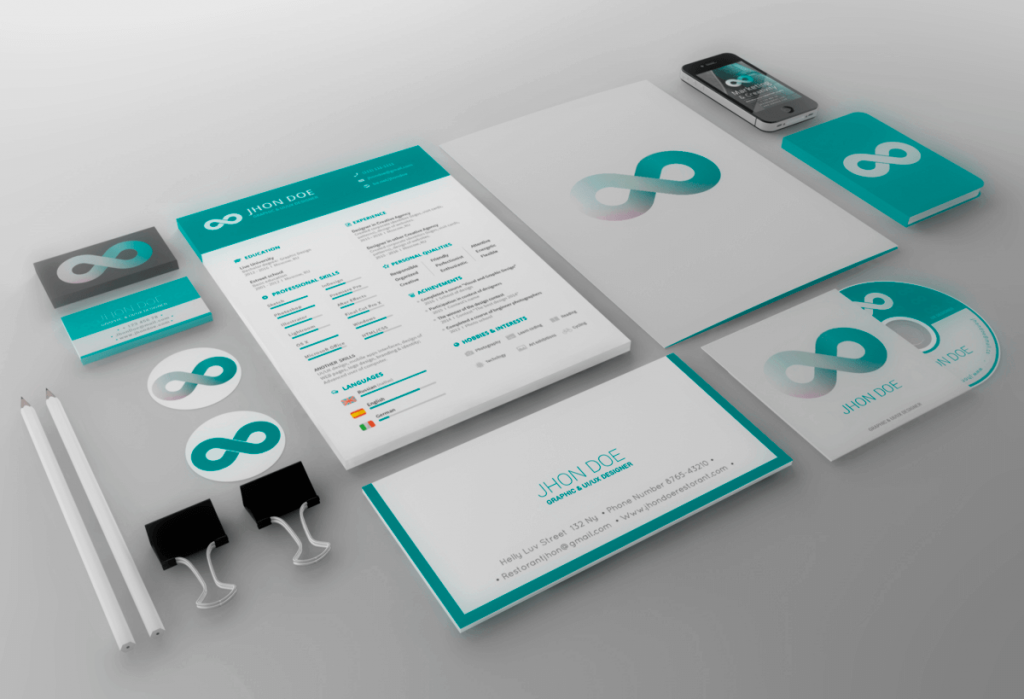 corporate identity psd pack free psd ui download.mockup design, Powerpoint templates