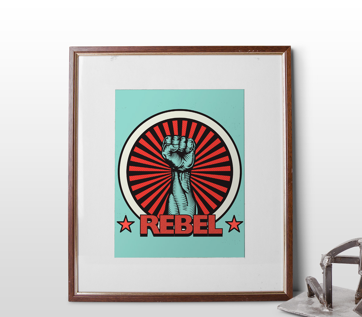artwork-showcase-mock-up-vintage-vector