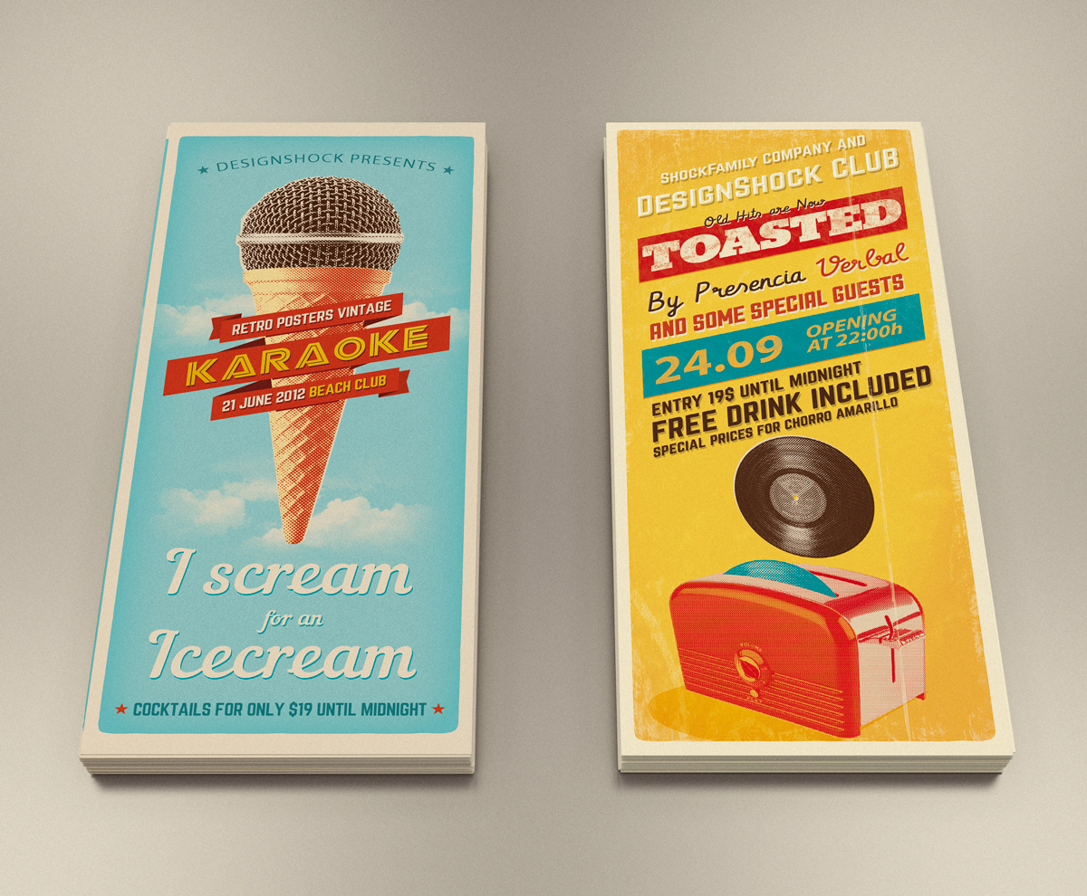 Mock-up-leaflet-vintage-vector