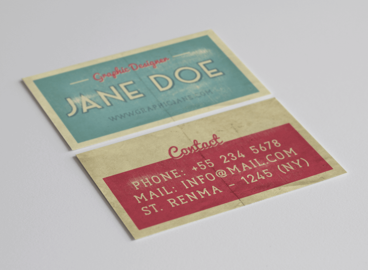 business-card-vintage-girl
