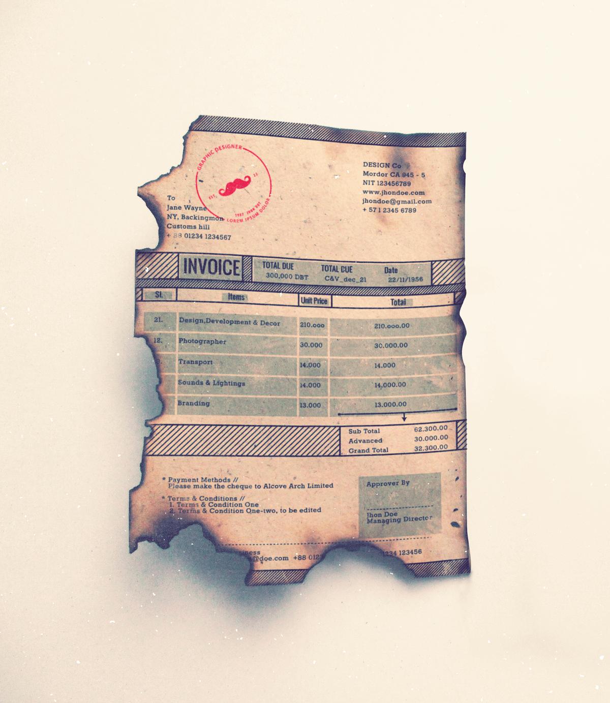 invoice-train-vintage