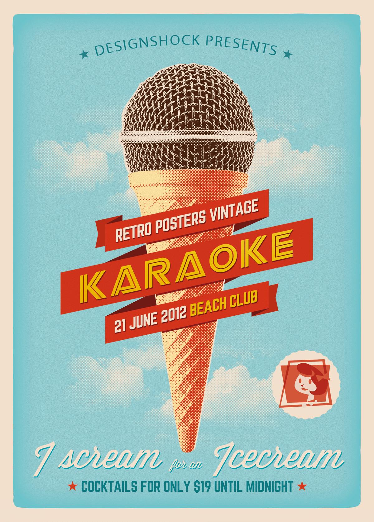 karaoke-beach-poster