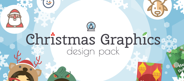 christmas vector graphics and icons pack