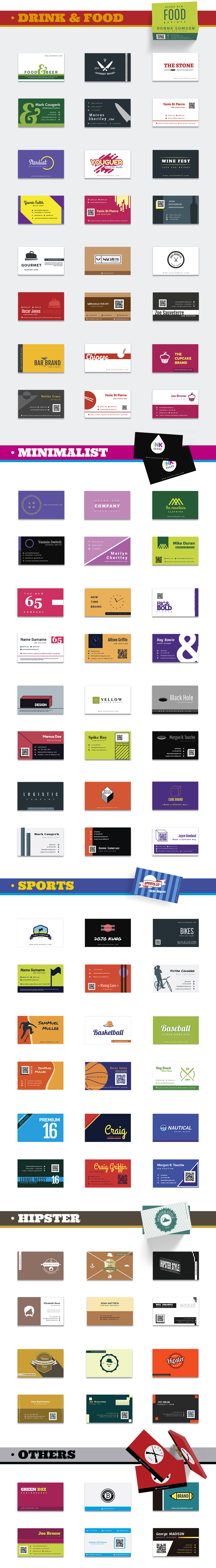 1000 Business Card Templates Pack Designshock Shockfamily